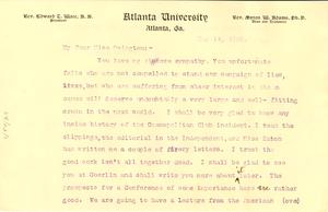 Letter from W. E. B. Du Bois to Mary White Ovington