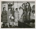 Group portrait of women congregants at Abyssinian Baptist Church, Harlem, New York, circa 1950s