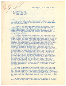 Letter from Ernest R. Gaithen to Joel E. Spingarn