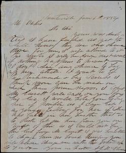 A. J. McElveen, Sumterville, S.C., autograph letter signed to Ziba B. Oakes, 4 June 1854
