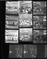Set of negatives by Clinton Wright including graduation at Kit Carson and Madison, Otis Harris at Marvel Manor, 1968