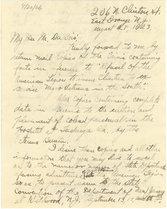 Letter from Luther Tharpe to W. E. B. Du Bois