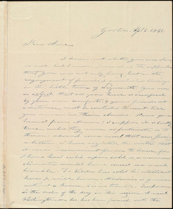 Thumbnail for Letter from Amos Farnsworth, Groton, [Mass.], to Anne Warren Weston, Ap[ri]l 6, 1842