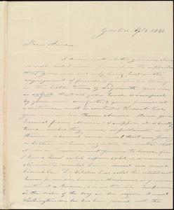 Letter from Amos Farnsworth, Groton, [Mass.], to Anne Warren Weston, Ap[ri]l 6, 1842