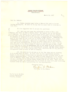 Letter from Rosalie Malone to W. E. B. Du Bois