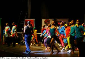 Dancers dressed in bright clothes Hip Hop Broadway: The Musical