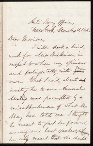 Letter from Oliver Johnson, New York, [N.Y.], to William Lloyd Garrison, March 31, 1862