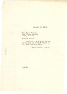 Letter from W. E. B. Du Bois to Manila D. Marion