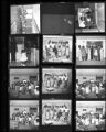 Set of negatives by Clinton Wright including Helen Anderson, Mrs. Fanny Owens, Doolittle activities, Sister Chawman, Mickey Mouse program, and Victory Baptist Church sewing circle, 1968