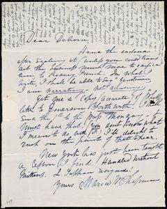 Letter from Maria Weston Chapman, [Boston, Mass.], to Deborah Weston, [May 15, 1839]
