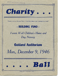 Fannie Wall Children's Home and Day Nursery, Inc. charity ball program