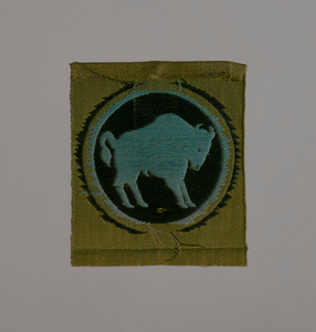 Insignia shoulder patch for the 92nd Infantry Division