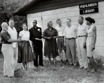 Photograph of workshop participants at Highlander Folk School, Monteagle, Tennessee, 1957 August 31