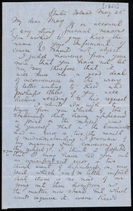 Letter from John Parkman, Staten Island, [N.Y.], to Samuel May, May 26 [1851?]