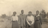 Four African American teachers at the Conecuh County training school in Evergreen, Alabama.