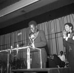 Man Holding Award, Los Angeles, 1978