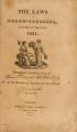Laws of North-Carolina [1821] Laws of the State of North-Carolina.
