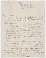 Letter : Zora Neale Hurston to Carl Van Vechten