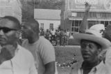 "Group of African Americans observing the """"March Against Fear"""" begun by James Meredith."