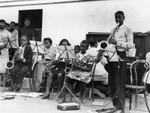Young students in band