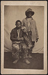 [Two unidentified escaped slaves wearing ragged clothes]
