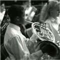 Horn Player at Ensemble Practice