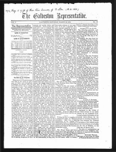 The Galveston Representative. (Galveston, Tex.), Vol. 1, No. 15, Ed. 1 Saturday, March 16, 1872 The Representative