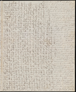 Letter from Anne Warren Weston, Boston, to Deborah Weston, January 30th, 1837, Monday