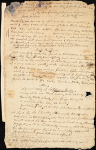 Letter from Arnold Buffum to William Lloyd Garrison and Isaac Knapp, [1834 June 21]