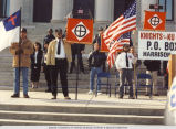 Ku Klux Klan Rally on Steps of State Capitol