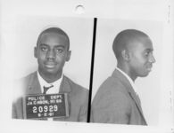 Mississippi State Sovereignty Commission photograph of Charles Butler following his arrest for his participation in the Freedom Rides, Jackson, Mississippi, 1961 June 2