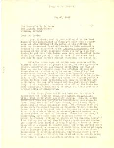 Letter from Albon L. Holsey to B.J. Davis