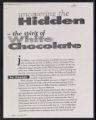 White Chocolate [production records] (Box 7, Folder 23)