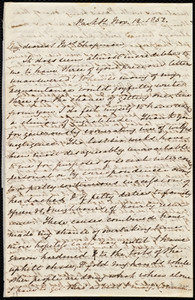 Letter from Mary Anne Estlin, Park St., [Bristol, England], to Maria Weston Chapman, Nov. 12, 1852