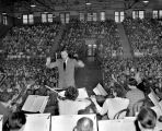 Nashville Symphony gives a performance for students at Pearl High School, 1951 December 10