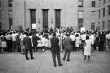 Civil rights demonstrators who had just participated in an SCLC march to the Jefferson County courthouse in Birmingham, Alabama.