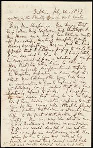 Thumbnail for Letter from Richard Davis Webb, Dublin, [Ireland], to Maria Weston Chapman, July 24, 1857