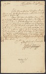 A collection of autograph letters and original documents relating to the Island of Barbados in the 18th century, ca. 1730-1778