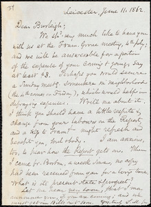 Letter from Samuel May, Leicester, [Mass.], to Charles Calistus Burleigh, June 11, 1862