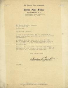 Letter: Washington, D.C. to Charles Henry Douglass, Jr., Macon, Georgia, 1925 Sept. 14