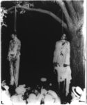 [Two African American men, lynched, hanging from tree, Marion, Ind.]