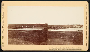 Wagon train crossing the Rappahannock River