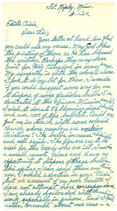 Letter from Dora Kechely to W. E. B. Du Bois