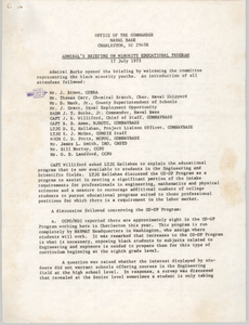 Admiral's Briefing on Minority Educational Program, July 17, 1975