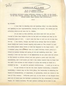 Tribute to Dr. W. E. B. Du Bois