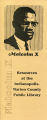 Malcolm X 1993: Resources at the Indianapolis-Marion County Public Library (Handout)