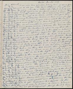 Letter from Anne Warren Weston, Boston, to Deborah Weston, March 8, 1839