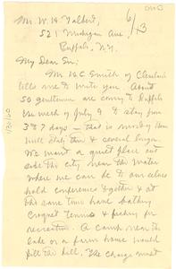 Letter from W. E. B. Du Bois to W. H. Talbert