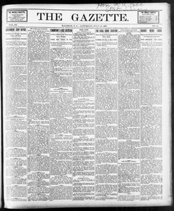 The Gazette. (Raleigh, N.C.), Vol. 9, No. 21, Ed. 1 Saturday, July 10, 1897 The Gazette The Weekly Gazette