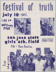 """festival of truth"" flier, July 10, 1971"
